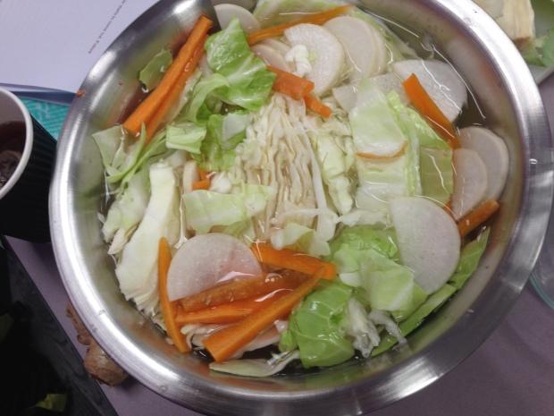 Kimchi prep.
